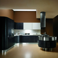 cuisine moderne italienne allemande. Black Bedroom Furniture Sets. Home Design Ideas