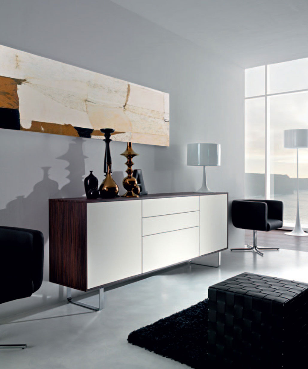 Living bureau meuble mobilier design for Mobilier salon design