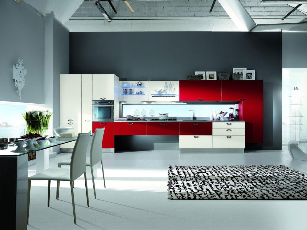 Cuisine moderne rouge for Cuisine de luxe