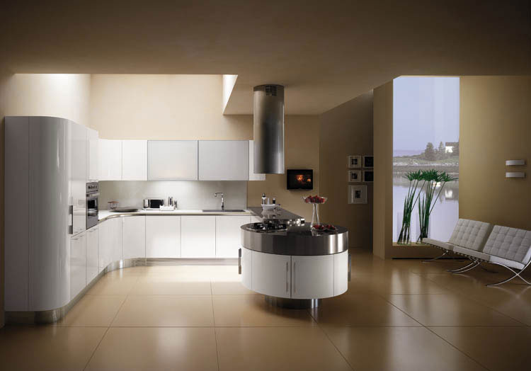 Cuisines rondes italiennes en france grenoble url for Cuisine moderne design