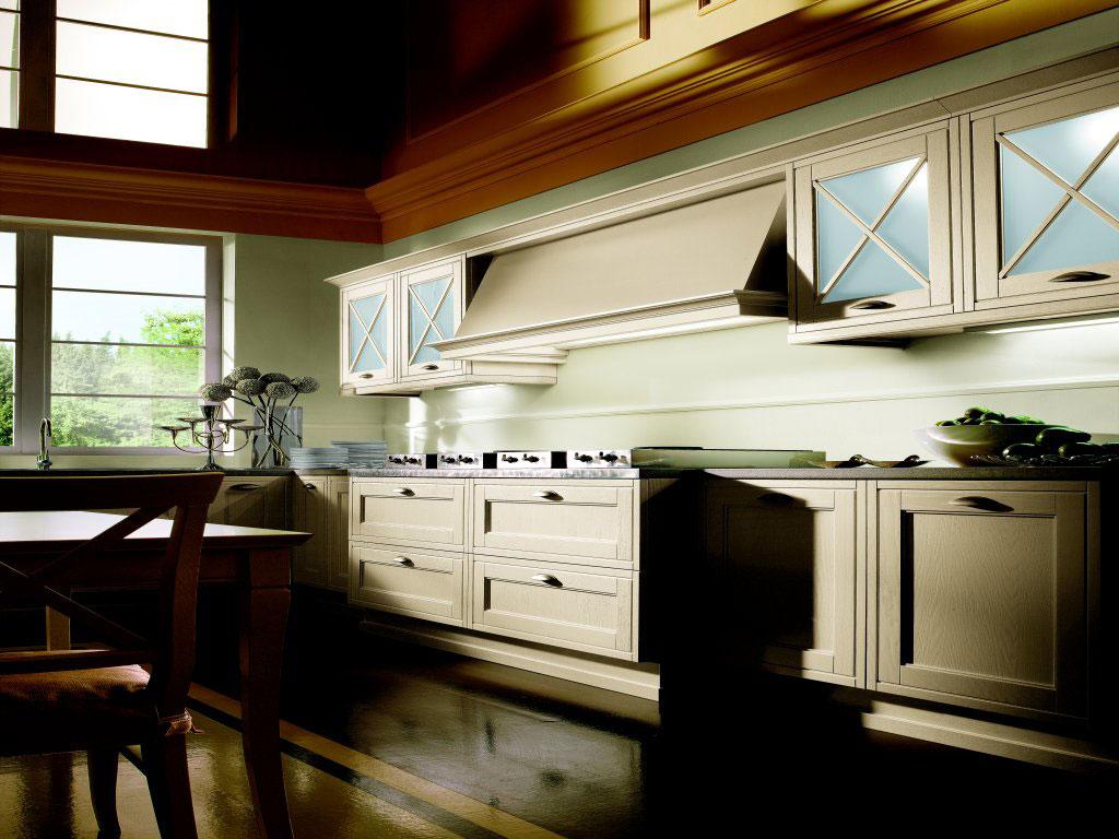 Mobilier de cuisine avec table en bois massif  Brault